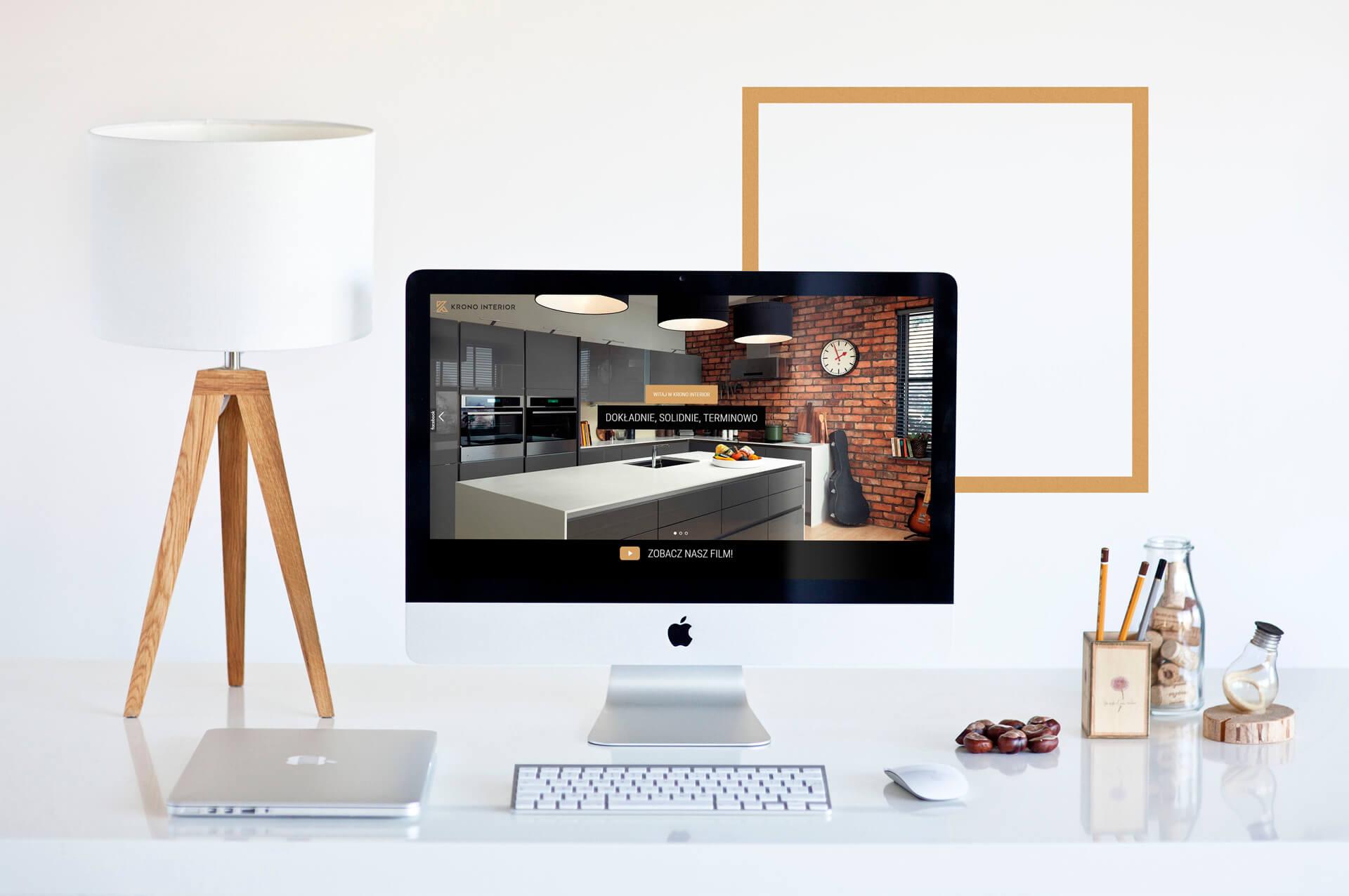 Prezentacja strony internetowej dla firmy zajmującej się projektowaniem wnętrz
