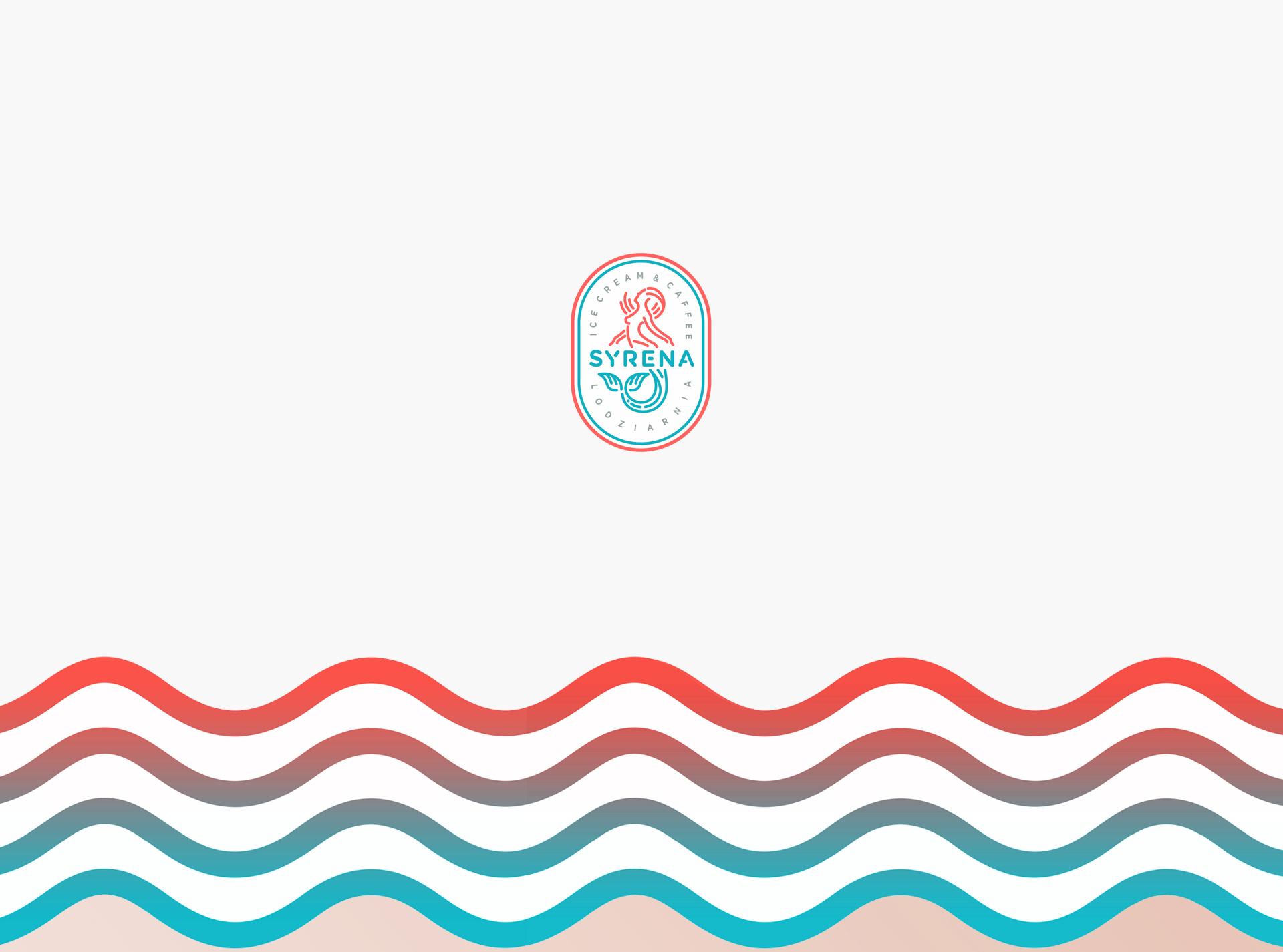Projekt logo dla Syrena - Ice Cream and coffee