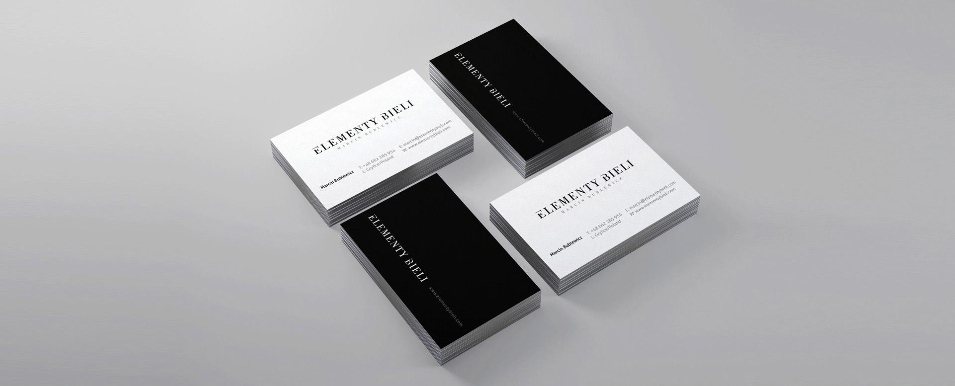 projekt eleganckiej wizytówki dla fotografa