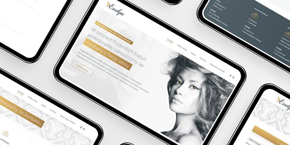projekt strony internetowej salonu fryzjerskiego